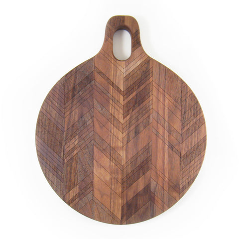 Herringbone Pattern Round Board