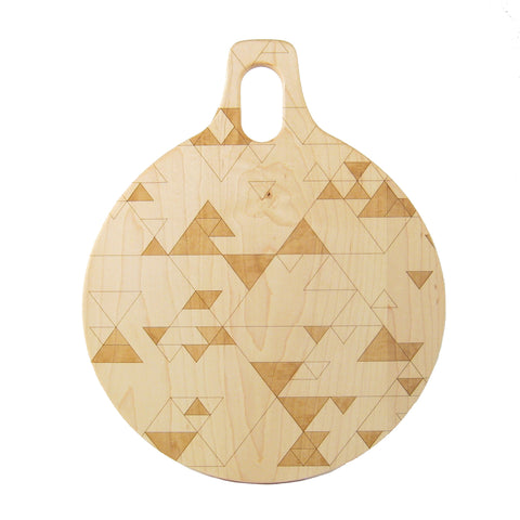 Triangle Pattern Cutting/Serving Board