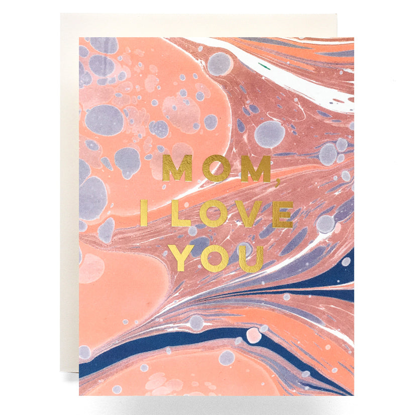 CLEARANCE - Marble Love You Mom Card