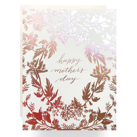 Rose Gold Mother's Day Card
