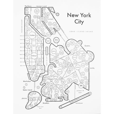 CLEARANCE - Archie's Press New York City Small Map Print