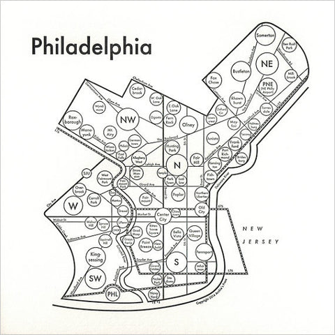 Philadelphia Small Map Print