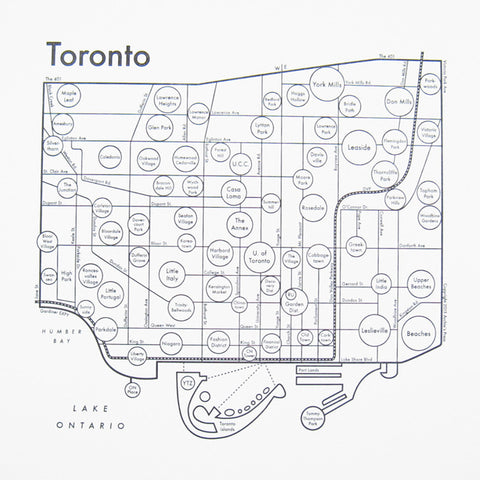 CLEARANCE - Archie's Press Toronto Small Map Print
