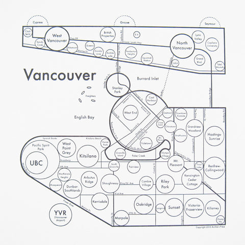 CLEARANCE - Archie's Press Vancouver Small Map Print