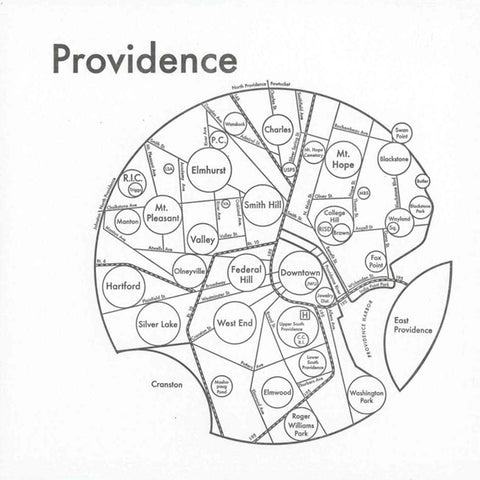CLEARANCE - Archie's Press Providence Small Map Print