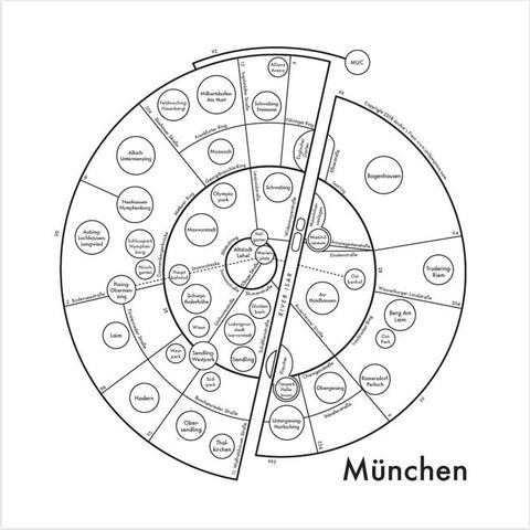 CLEARANCE - Archie's Press Munich Small Map Print