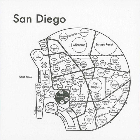 San Diego Small Map Print