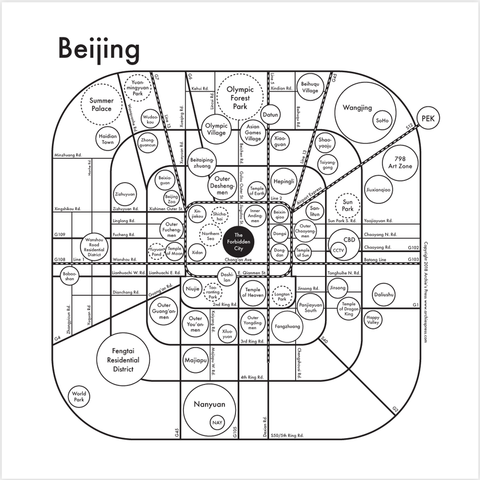 Beijing Small Map Print