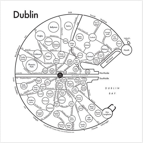 Dublin Small Map Print