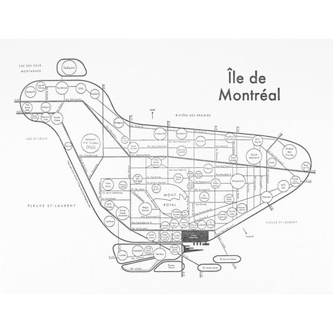 Montreal Small Map Print