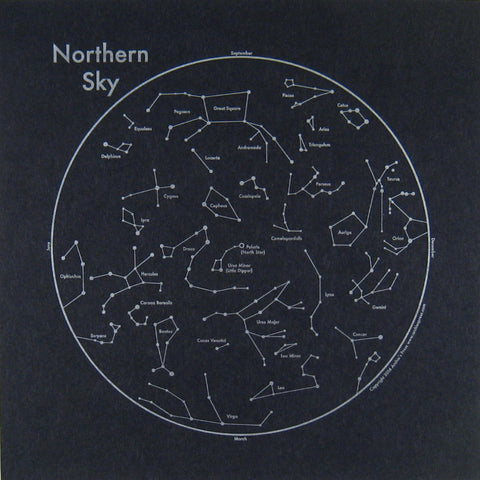 Northern Sky Small Map Print