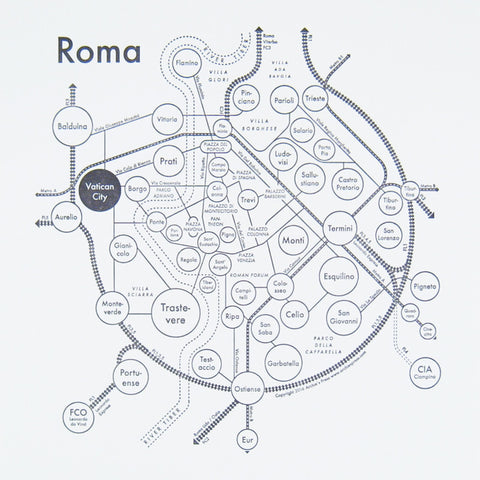 Roma Small Map Print