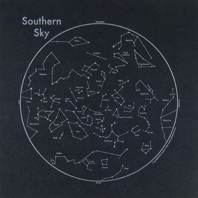 Southern Sky Small Map Print