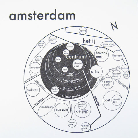 Amsterdam Small Map Print