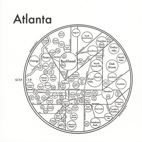 Atlanta Small Map Print