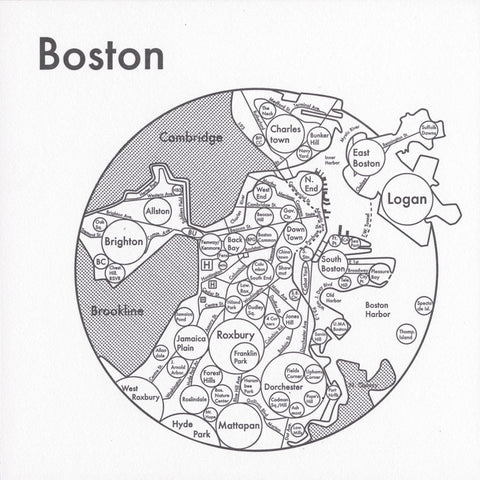 Boston Small Map Print