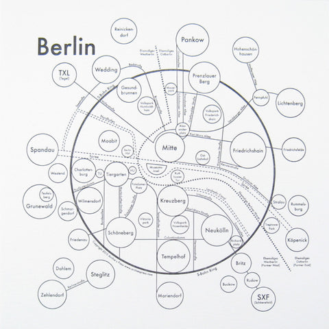 Berlin Small Map Print