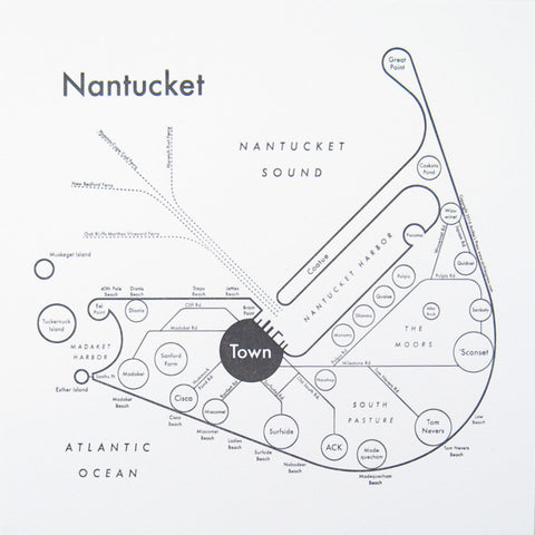 Nantucket Small Map Print