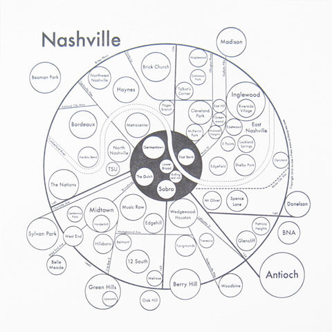 Nashville Small Map Print
