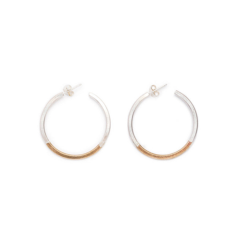 Koa Hoop Earrings