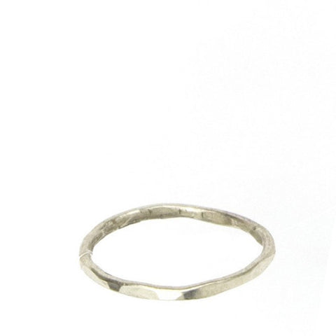 CLEARANCE - Faceted Sterling Silver Ring