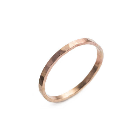 Faceted Gold Filled Ring