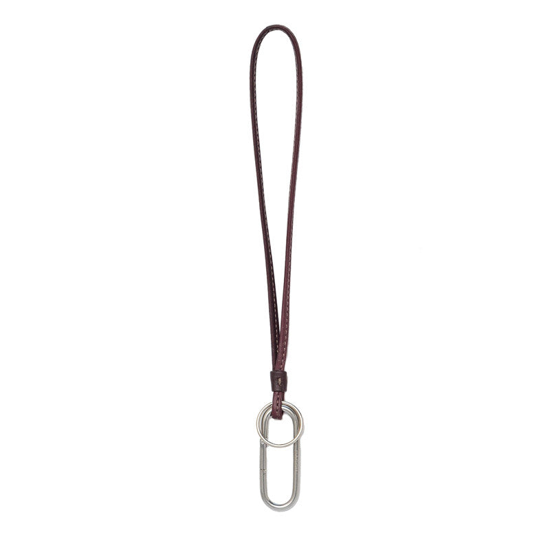 Carabiner Leather Keychain - Sale