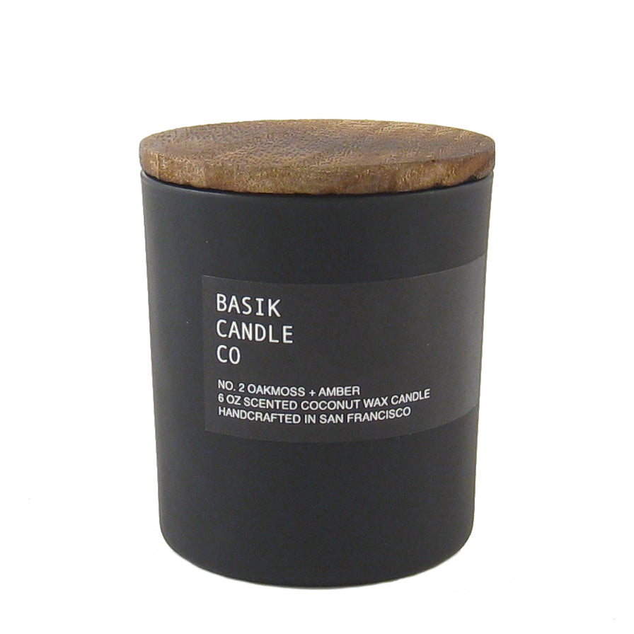 Basik Small Wooden Top Candle