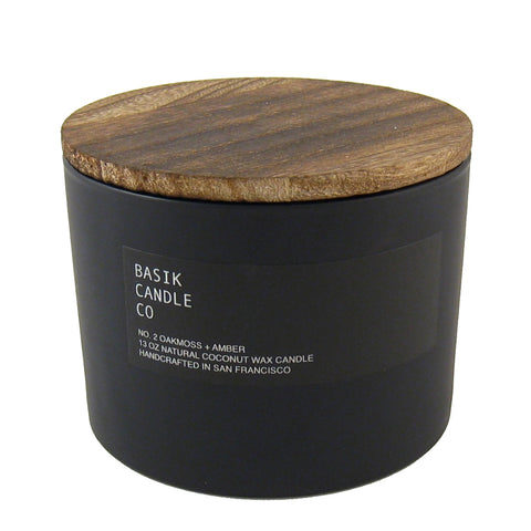 Large Wood Top Candle