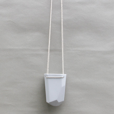 Porcelain Hanging Crystal Planter