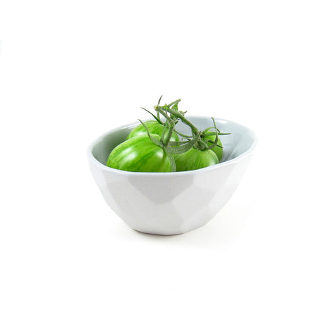 Faceted Porcelain Olive Bowl