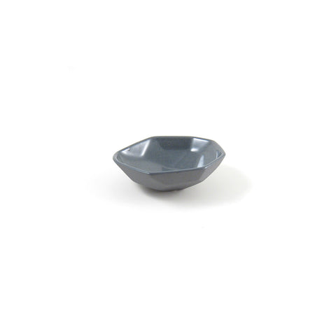 Faceted Porcelain Salt Bowl