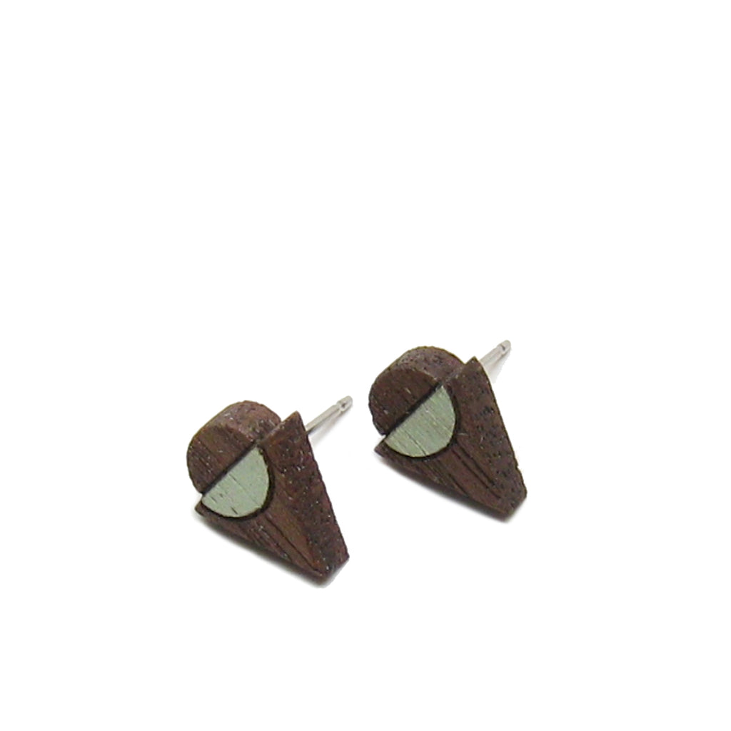 Triangle Circle Stud Earrings