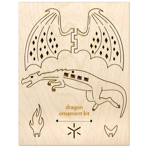 Dragon Flatpack Ornament Kit