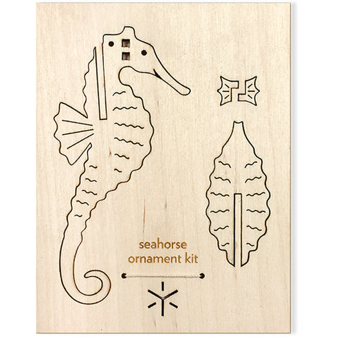 CLEARANCE - Seahorse Flat Pack Ornament Kit