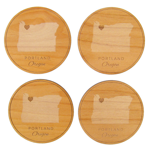 Portland Oregon Coaster Set
