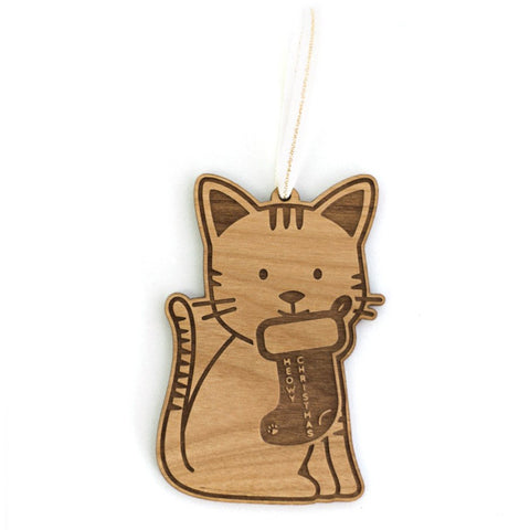 Meow-y Christmas Ornament