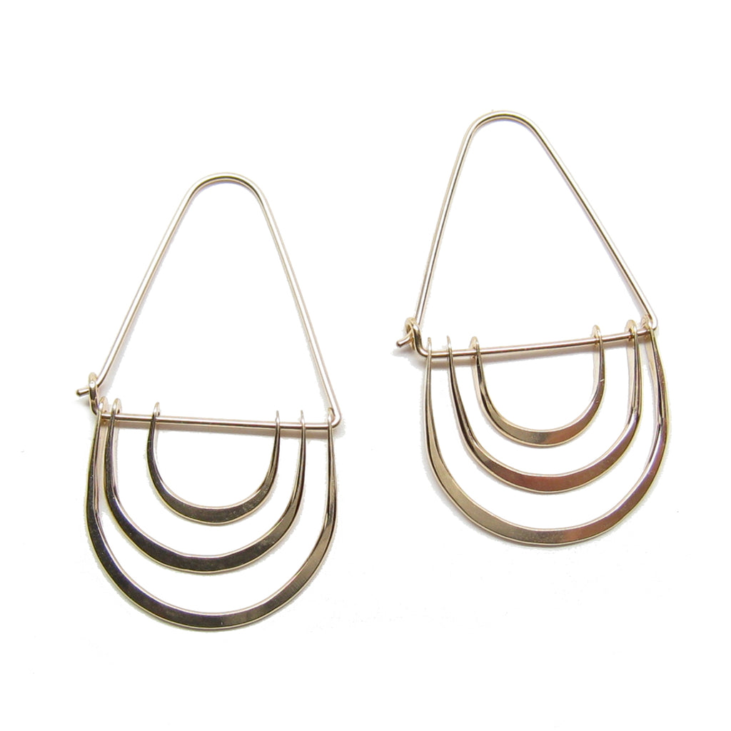 Triple Arc Earrings