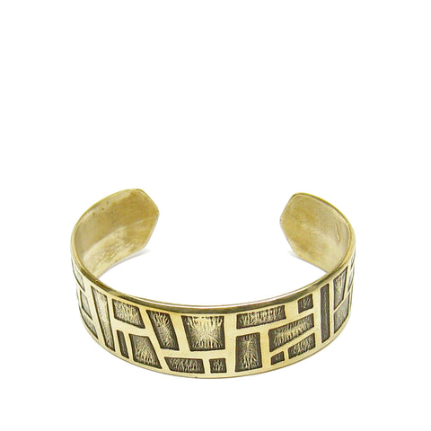 Wide Shapes Cuff Bracelet