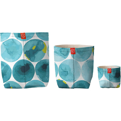 Bubbles Cotton Fabric Bucket