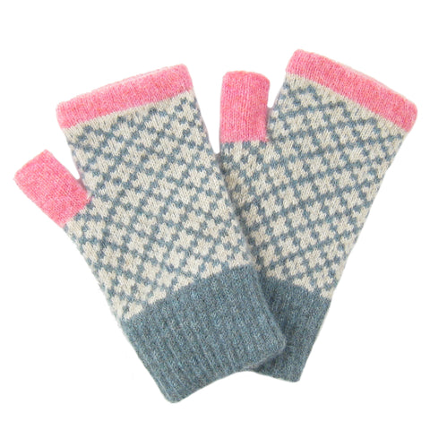 Lambswool Cross Wrist Warmers