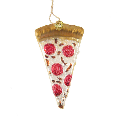 Pizza Glass Ornament