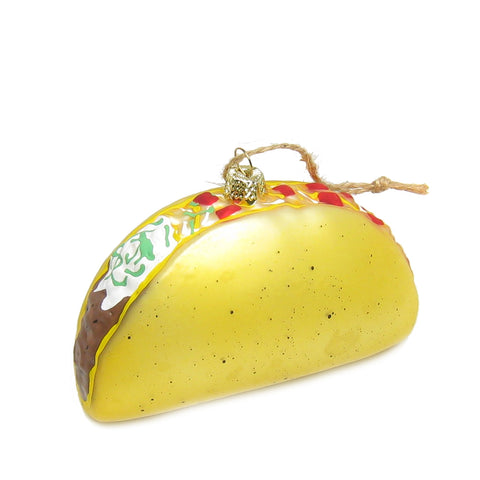 Taco Glass Ornament