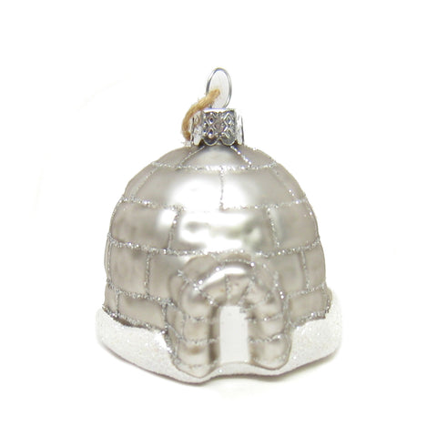 Tiny Glass Igloo Ornament