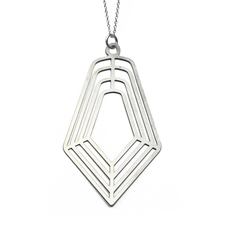 Concentric Facet Pendant Necklace