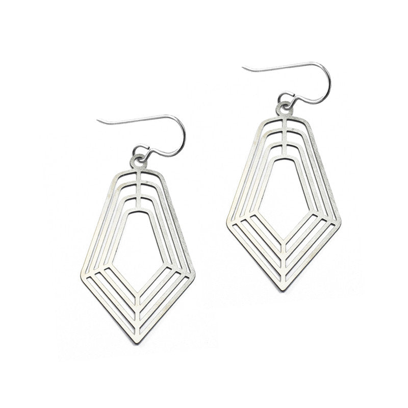 Small Concentric Facet Earrings