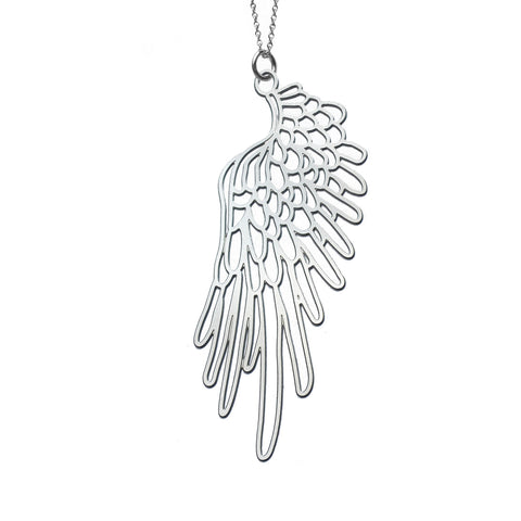 CLEARANCE - Small Wings #3 Pendant Necklace