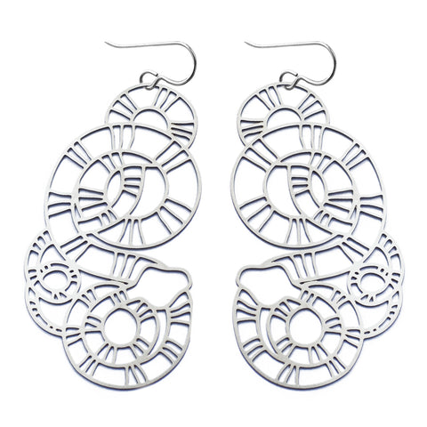 Striped Snake Earrings