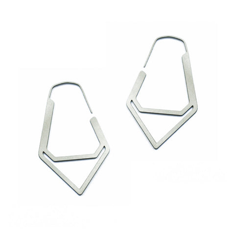 Tiny Double Facet Hoop Earrings