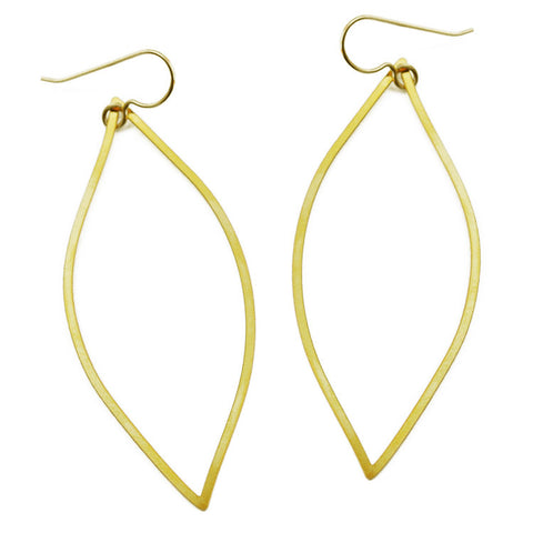 Organic Line Leaf Earrings